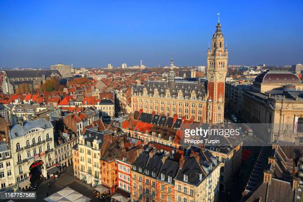 europe, france, hauts de france, lille. historic center - hauts de france stock photos and pictures