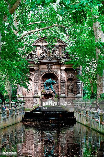 Europe France Paris Luxembourg Gardens The Medici Fountain