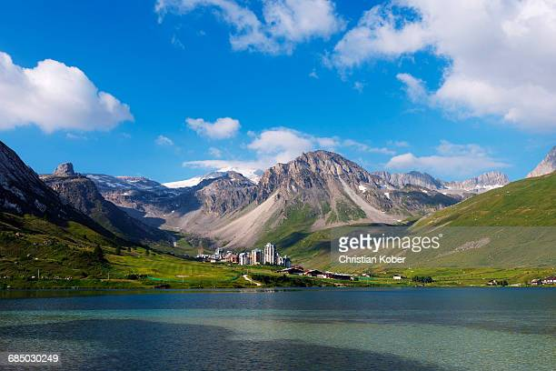 europe, france, rhone alpes, savoie, vanoise national park, tignes - ティーニュ ストックフォトと画像