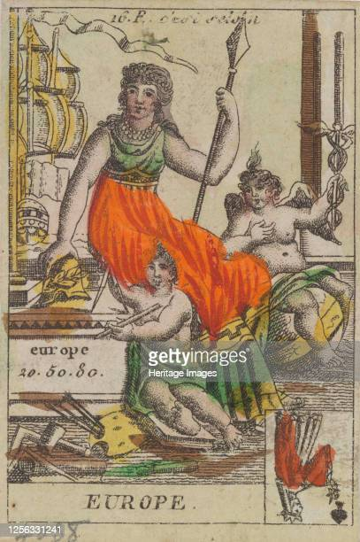 Europe from Playing Cards 'Costumes des Peuples Étrangers' 17001799 Artist Anon