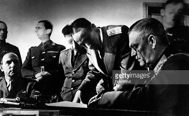 German Field Marshal Keitel signs the Act of Capitulation of Germany Berlin 8 May 1945