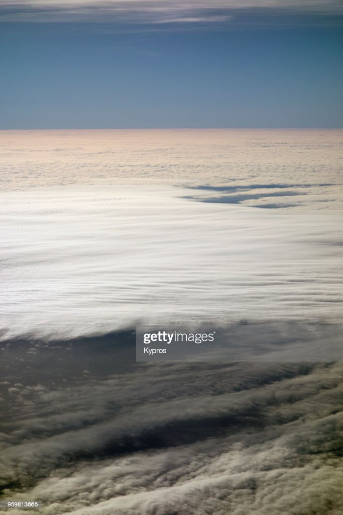 Europe, Germany, 2018: Aerial View Of Clouds : Stock-Foto