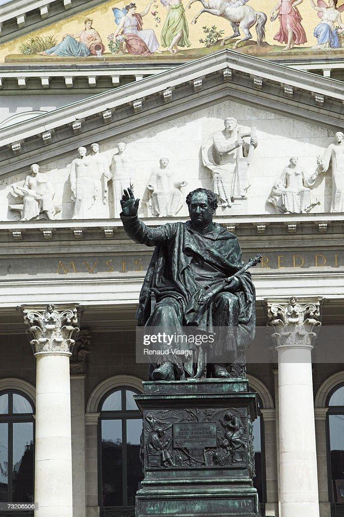 Europe, Germany, Bavaria, Munich, statue of King Max Joseph : Stock Photo