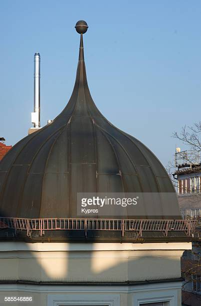 Europe, Germany, Bavaria, Munich, View Of Onion Dome Roof On Private House