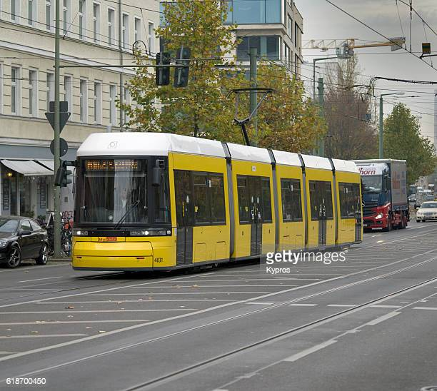 Europe, Germany, Berlin, View Of Tram