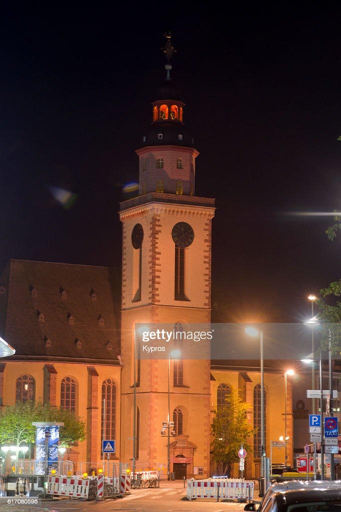 Europe, Germany, Frankfurt, View Of Katharinenkirche, A Baroque Church In Hauptwache : Stock Photo