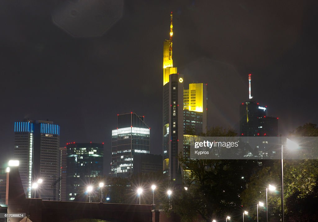 Europe, Germany, Frankfurt, View Of Modern Office Building Cityscape : Stock Photo