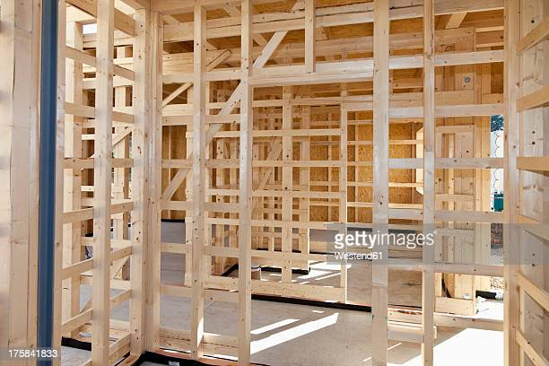 Europe, Germany, Rhineland Palantinate, Wooden walls of house building