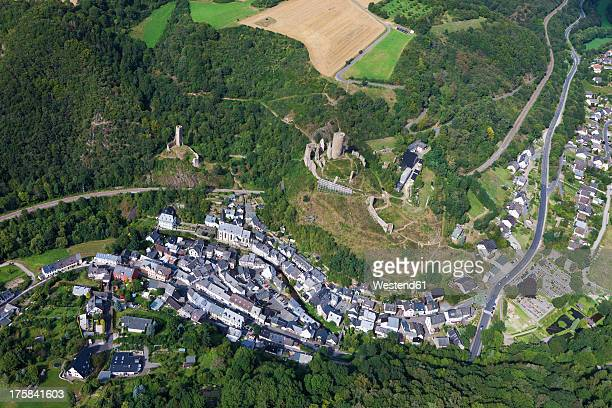 Europe, Germany, Rhineland Palatinate, View of city and castles