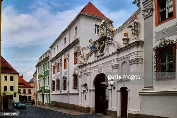 Europe Germany Saxony Bautzen The old town the house of the chaplain of the catholic church