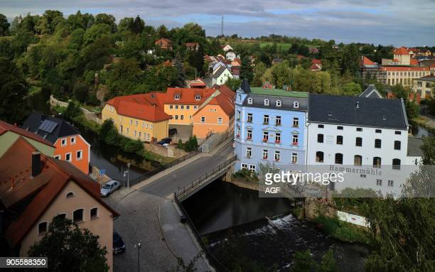 Europe Germany Saxony Bautzen The town and the river Spree