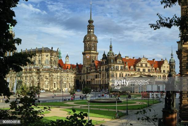 Europe Germany Saxony Dresde The old Town The catholic church of the Court and the castle