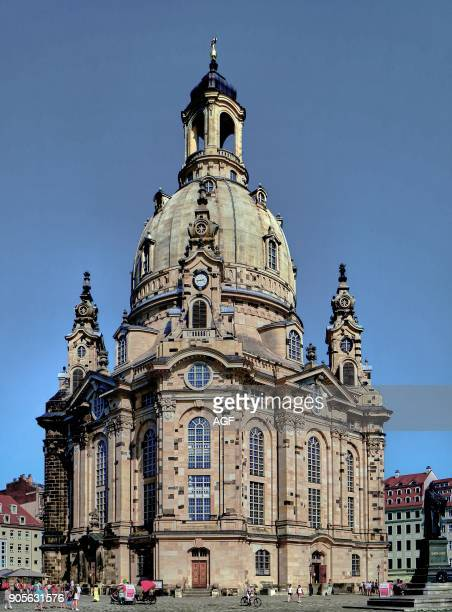 Europe Germany Saxony Dresden city old town the church of Our Lady