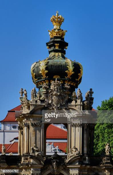 Europe Germany Saxony Dresden City The Old Townkronentor Crown Gate Zwinge The Zwinger Is An 18th Century Baroque Palace Which Houses Several Noted...