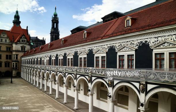 Europe Germany Saxony Dresden The old Town The Castle 'Royal Palace' in Dresden