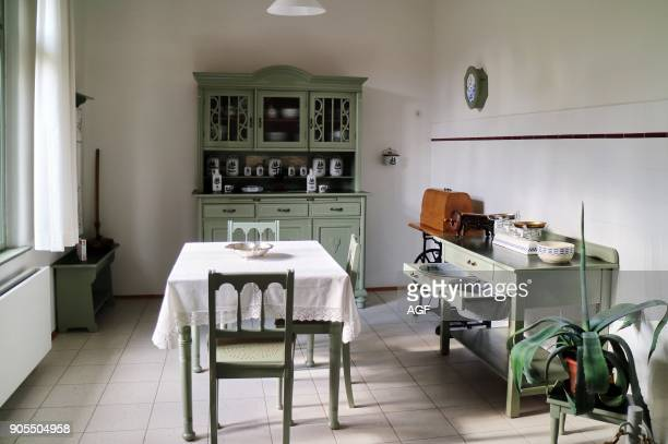 Europe Germany Saxony Zwickau City House of August Horch Domestic Kitchen