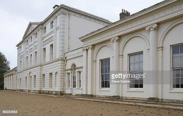 europe, great britain, england, london, hampstead, kenwood house, extension housing the library in the foreground - kenwood house - fotografias e filmes do acervo