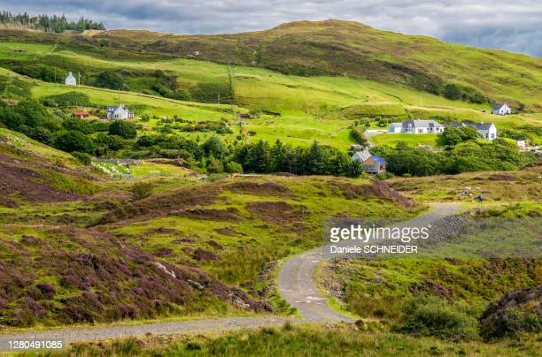 europe, great britain, scotland, hebrides, south-east of the isle of skye, farms in the moor at point of sleat - hebriden inselgruppe stock-fotos und bilder