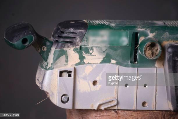 Europe, Greece, 2018: View Of Electric Belt Sander (Power Tool)