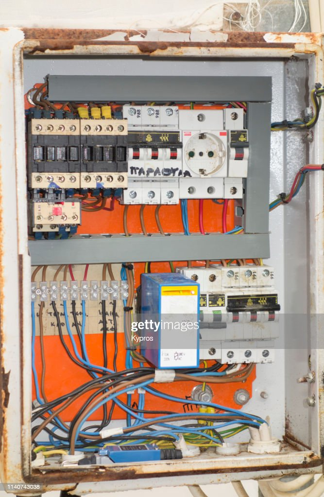 [DIAGRAM_3ER]  Europe Greece 2018 View Of Electrical Fuse Box Inside Large Greenhouse To  Power Motor Driven Roof High-Res Stock Photo - Getty Images | Large Fuse Box |  | Getty Images