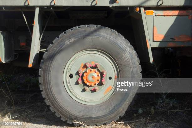 Europe, Greece, 2018: View Of Truck Tyre (Military 4x4 Type)