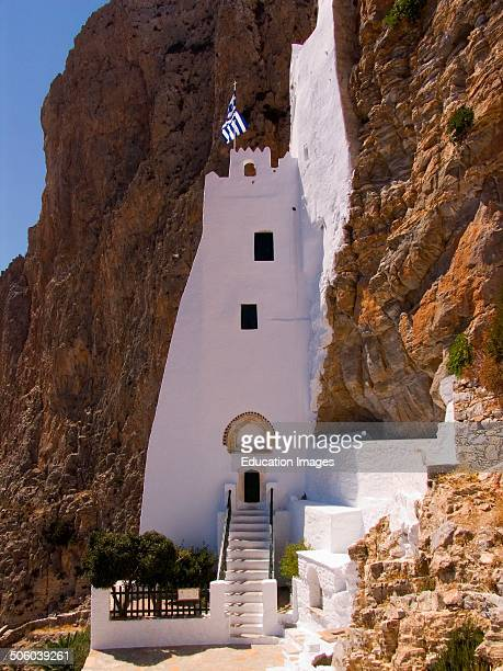 Europe Greece Cyclades Islands Island Of Amorgos Hozoviotissa Monastery