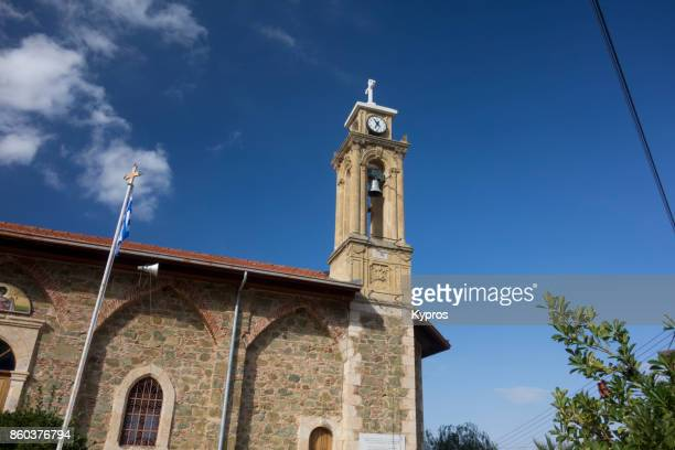 2017 - Europe, Greece, Cyprus, Troodos, Gerakies Village, View Of Church - Agios Georgios Greek Orthodox Church