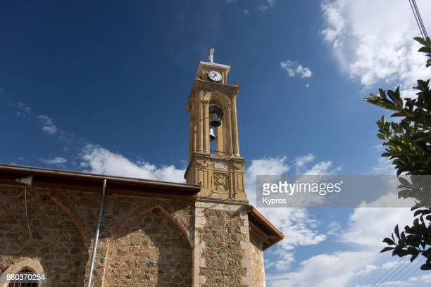 2017 - Europe, Greece, Cyprus, Troodos, Gerakies Village, View Of Church Bell Tower - Agios Georgios Greek Orthodox Church