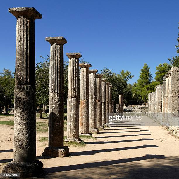 Europe Greece Pelopponese Elide The Palaestra 3rd C Bc Archaeological Site