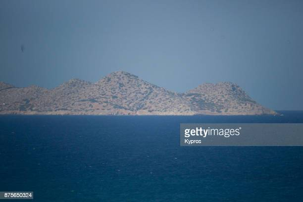 Europe, Greece, Rhodes Island, 2017: View Of Aegean Sea Seascape. The Aegean Sits Within The Greek Islands Of Crete And Rhodes And Extends Northwards To Turkey. The Southern Part Joins The Mediterranean Sea.