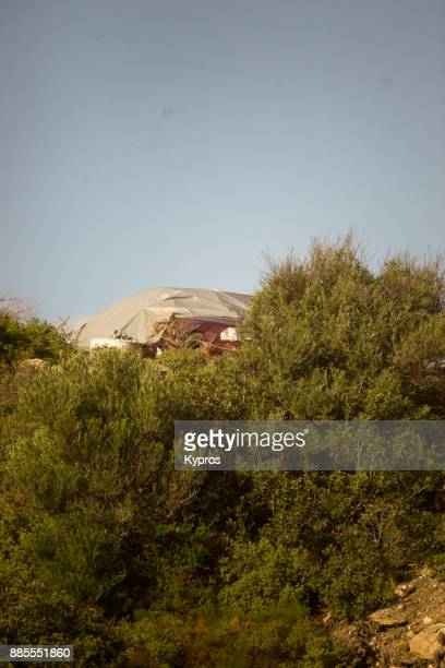 Europe, Greece, Rhodes Island, 2017: View Of Sports Car Covered With Synthetic Cover