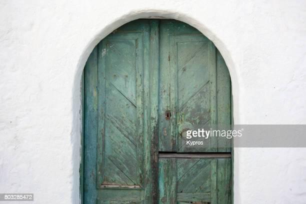 Europe, Greece, Rhodes Island, View Of Ancient Wooden Door