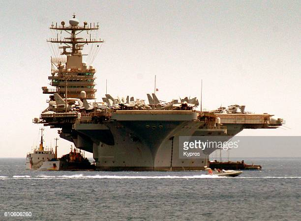 Europe, Greece, View Of American Aircraft Carrier