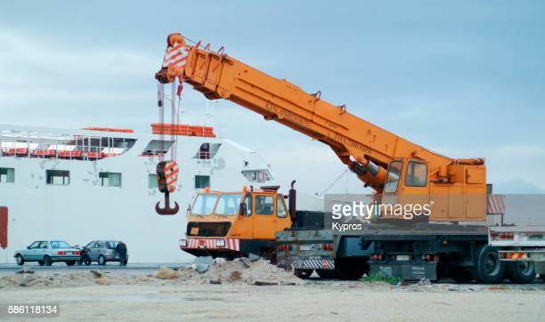 Europe, Greece, View Of Mobile Crane
