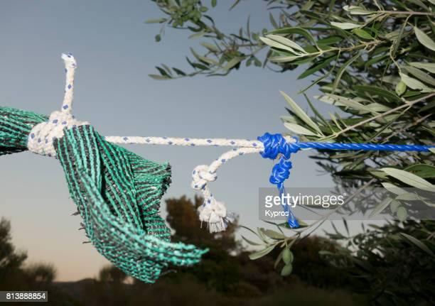 Europe, Greece, View Of Rope And Knots Close Up