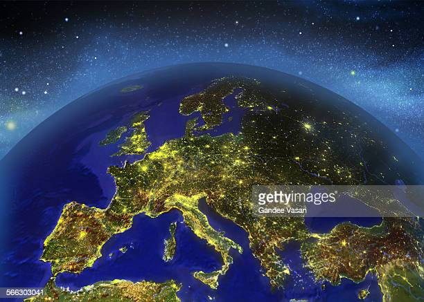 europe illuminated - gandee stock pictures, royalty-free photos & images