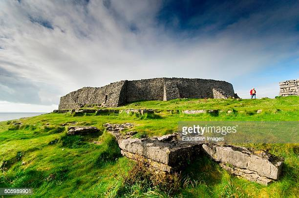 Europe Ireland Aran Islands Inishmore Dun Aonghasa Fortress
