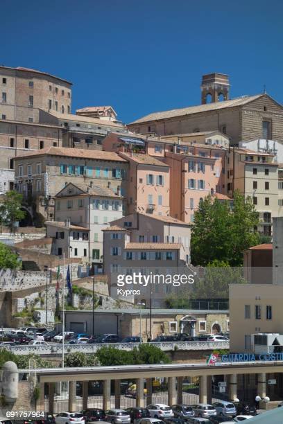 Europe, Italy, Ancona Area, View Of Homes And Apartment Buildings