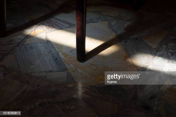 Europe, Italy, Lombardy, Milan, 2018: View Of Cafe Or Restaurant With Granite Floor Tiles