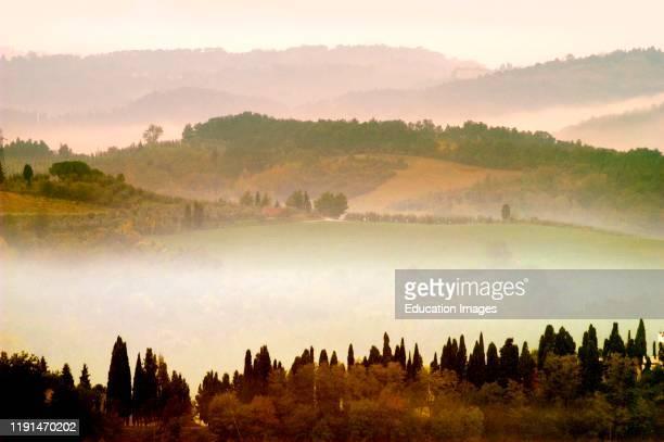 Europe. Italy. Tuscany. San Miniato Hills.