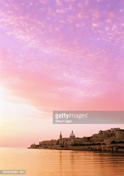 Europe, Malta, Valletta, harbour at sunset