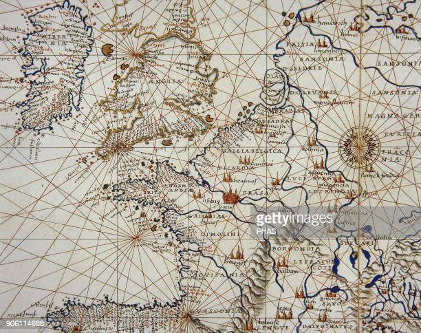 Europe Map 15th century Conde Museum Chantilly France