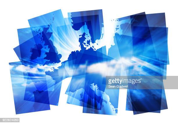 Europe map abstract