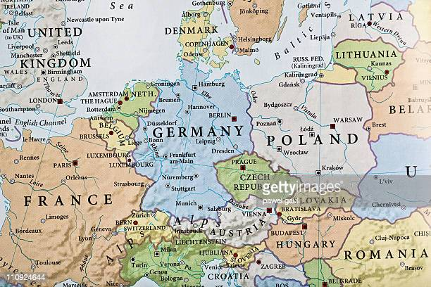 europe map - maps stock photos and pictures