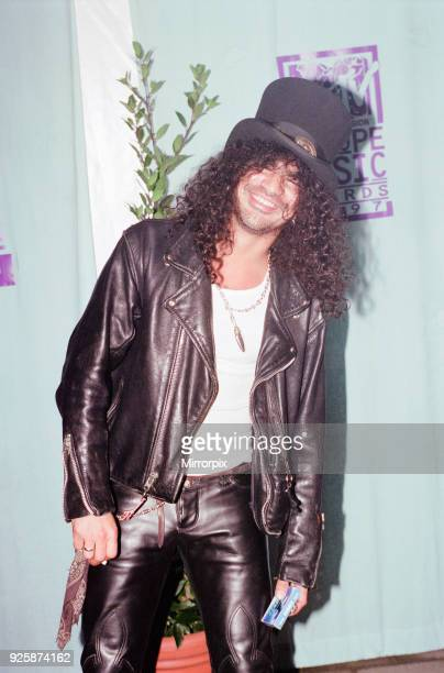 Europe Music Awards, held at Ahoy, Rotterdam, The Netherlands, 6th November 1997. Pictured, Saul Hudson, known professionally as Slash, lead...