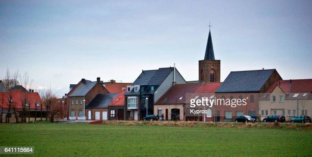 Europe, Netherlands, View Of Village Church