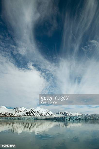 Europe, Norway, Svalbard, clouds over face of Monacobreen (Monaco Glacier) Leifdefjorden