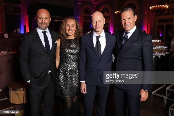 Europe Oliver Timm Marc Walder his wife Susanne Walder and CEO Tommy Hilfiger and PVH Europe Daniel Grieder attend the Tommy Hilfiger VIP Dinner in...