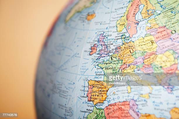 Europe on a Globe