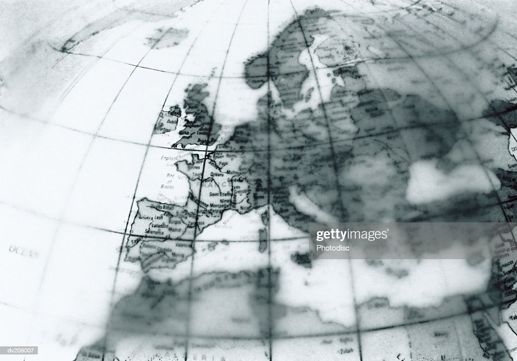 Europe on globe : Stock Photo